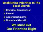 establishing priorities in the local church12
