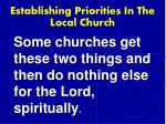 establishing priorities in the local church2
