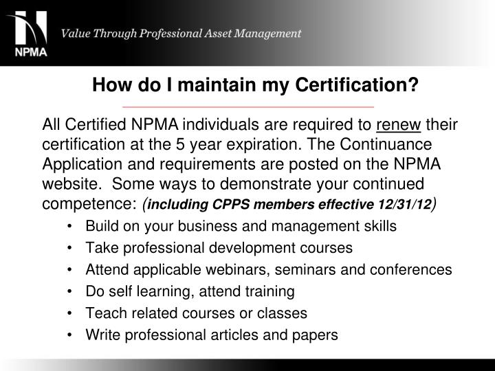 PPT - NPMA Certification Program Presented by PowerPoint ...