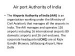 air port authority of india