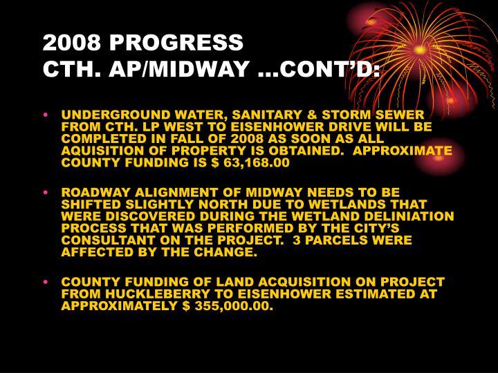 2008 PROGRESS
