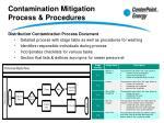 contamination mitigation process procedures