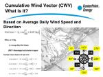 cumulative wind vector cwv what is it