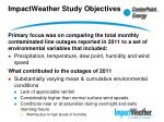 impactweather study objectives