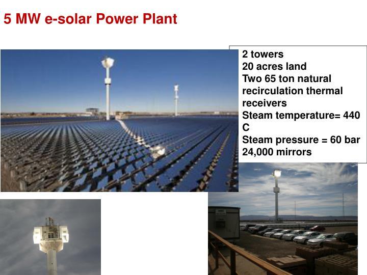 5 MW e-solar Power Plant