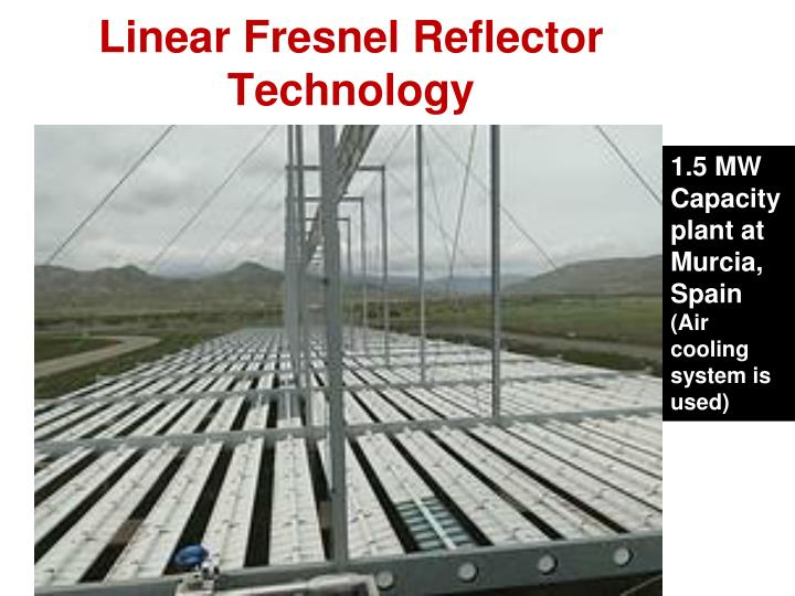Linear Fresnel Reflector Technology