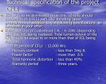 technical specification of the project cfls