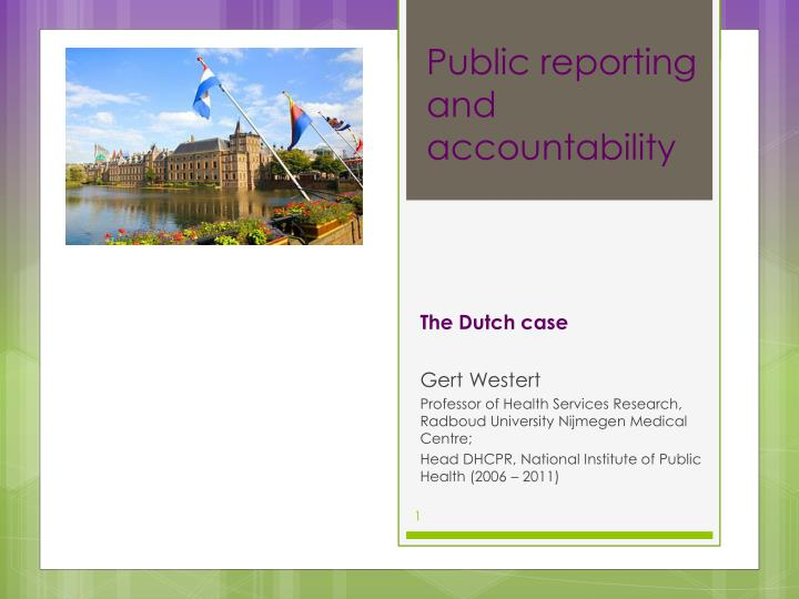 public reporting and accountability n.