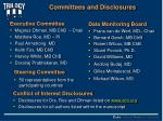 committees and disclosures