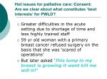 hot issues for palliative care consent are we clear about what constitutes best interests for pwld