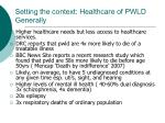 setting the context healthcare of pwld generally