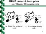mrms protocol description inter cluster reconstruction