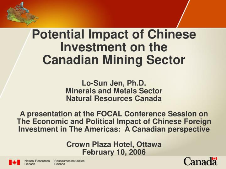 Potential Impact of Chinese Investment on the