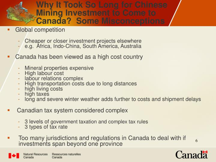 Why It Took So Long for Chinese Mining Investment to Come to Canada?  Some Misconceptions