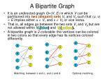 a bipartite graph