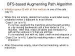 bfs based augmenting path algorithm