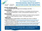 an integrated approach psychological health safety an action guide for employers2