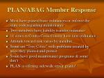 plan abag member response