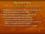 the latest news gonzales v city of san jose opinion
