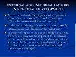 external and internal factors in regional development