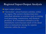 regional input output analysis