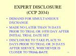 expert disclosure ccp 2034