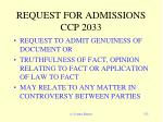 request for admissions ccp 2033