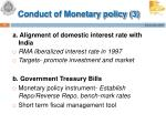 conduct of monetary policy 3