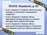 tesol standards p 83