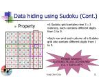 data hiding using sudoku cont