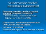 cerebrovascular accident hemorrhagic subarachnoid1