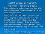 cerebrovascular accident ischemic embolic stroke