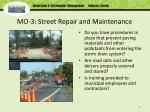 mo 3 street repair and maintenance