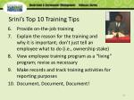 srini s top 10 training tips1