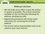 webcast archive
