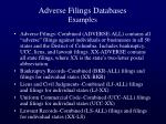 adverse filings databases examples