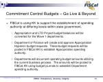 commitment control budgets go live beyond