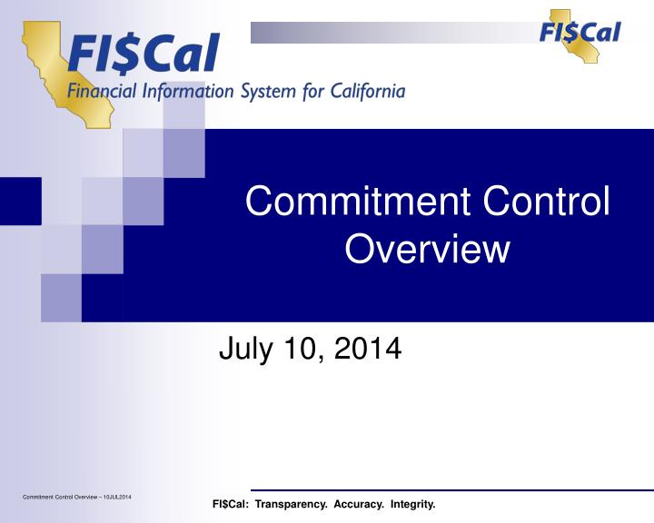 commitment control overview n.