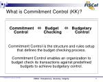 what is commitment control kk