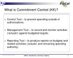 what is commitment control kk1