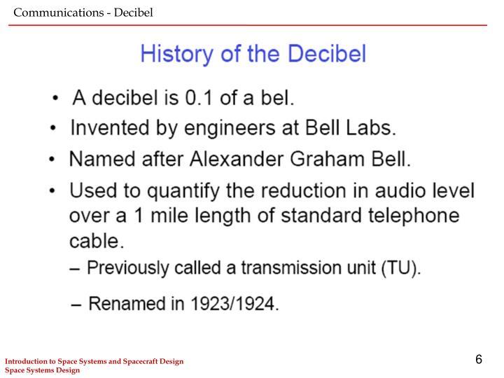 Communications - Decibel