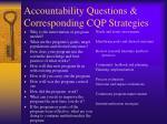 accountability questions corresponding cqp strategies