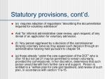 statutory provisions cont d1