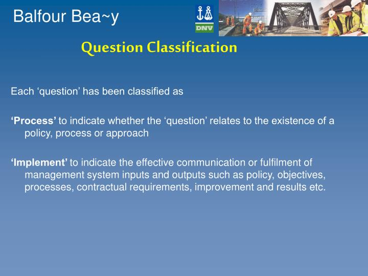 Question Classification