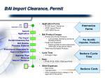 bai import clearance permit
