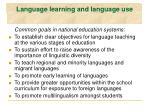 language learning and language use