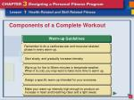 components of a complete workout4