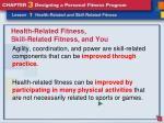 health related fitness skill related fitness and you