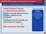 health related fitness vs skill related fitness10