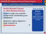 health related fitness vs skill related fitness8